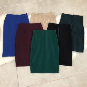 Bundle of 6 NEW Pencil Skirts, size Small